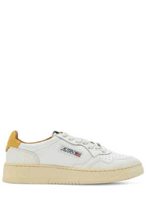 Virgin Leather Cracklè Low Sneakers