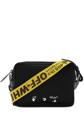Nylon Crossbody Bag W/ Logo Webbing