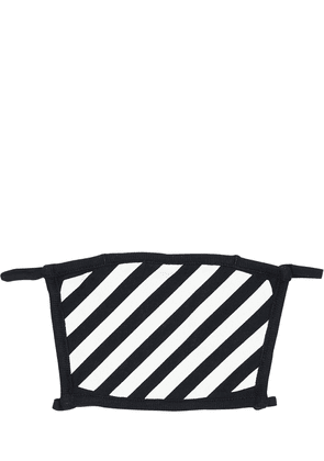 Diagonal Stripes Cotton Face Mask
