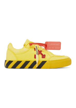 Off-White Yellow and Red Low Vulcanized Sneakers