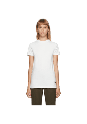 Jil Sander Three-Pack Off-White Lower Patch T-Shirts