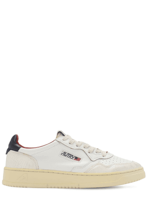 Crackled Virgin Leather Low Sneakers