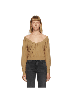 Alexander Wang Brown Draped Neck Pullover Sweater