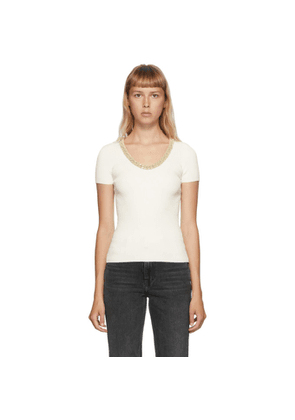 Alexander Wang Off-White Trapped Chain T-Shirt