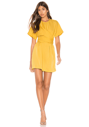 L'Academie The Everleigh Mini Dress in Mustard. Size XXS.