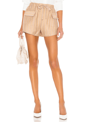 L'Academie The Ivet Short in Nude. Size S.