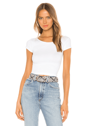 Free People Cap Sleeve SMLS Crop Top in White. Size XS/S.