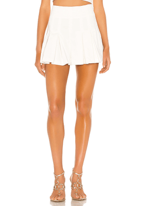 AMUR Apollo Short in White. Size 6.