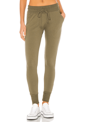 Free People X FP Movement Sunny Skinny Sweatpant in Sage. Size L,S.