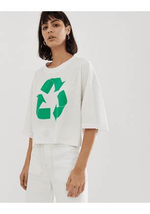 Weekday recycled edition symbol t-shirt in white