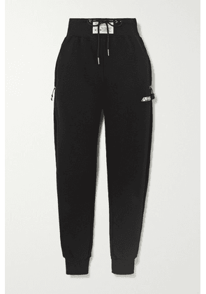 Adam Selman Sport - Cotton-blend Jersey Track Pants - Black