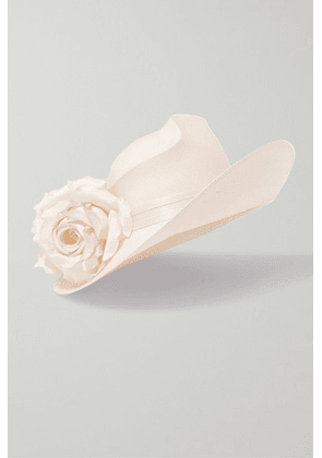Philip Treacy - Satin And Woven Paper Hat - Ivory