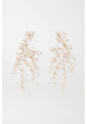 14 / Quatorze - Baby's Breath Gold-plated Pearl Earrings - one size