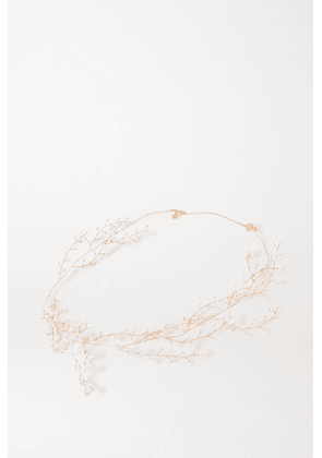 14 / Quatorze - Baby's Breath Gold-plated Pearl Necklace - White