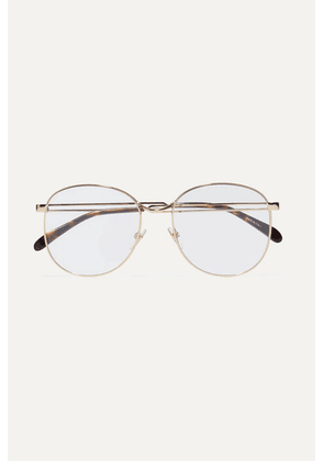 Givenchy - Round-frame Gold-tone Optical Glasses - one size