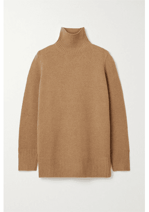 The Row - Sadel Oversized Cashmere Turtleneck Sweater - Light brown