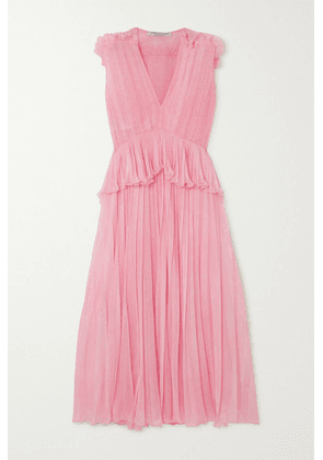 Philosophy di Lorenzo Serafini - Ruffled Pleated Chiffon Maxi Dress - Baby pink