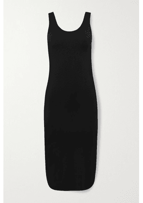 Commando - Butter Open-back Stretch-modal Midi Dress - Black