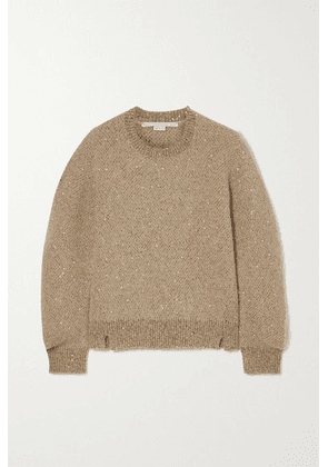 Stella McCartney - Sequined Knitted Sweater - Beige