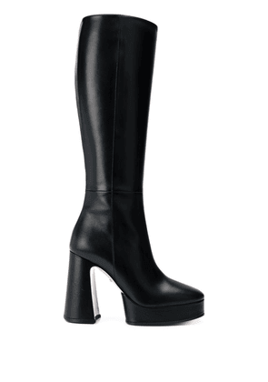 Gucci knee-high 110mm block-heel boots - Black
