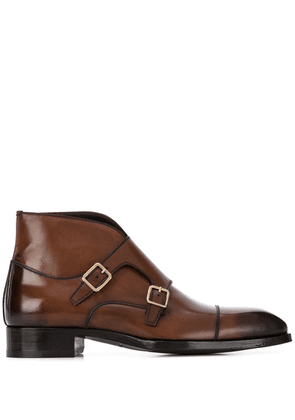 Tom Ford monk strap boots - Brown