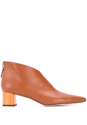 Emilio Pucci pointed leather boots - Brown