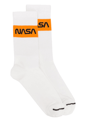 Heron Preston NASA stripe crew socks - White