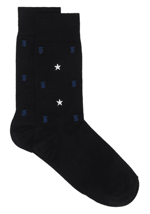 Burberry star and monogram ankle socks - Black