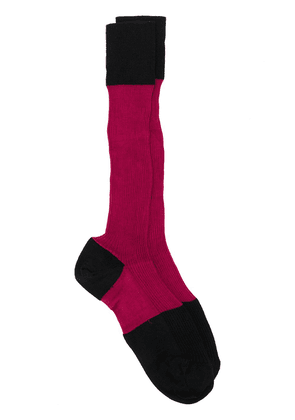 Marni colour-block knitted socks - Red