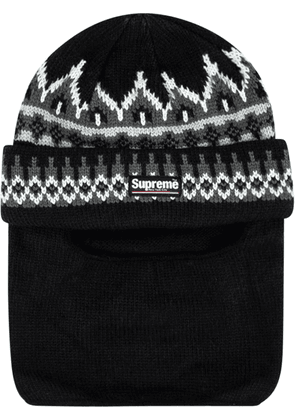 Supreme logo patch balaclava - Black