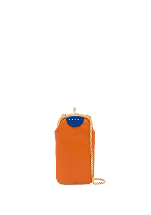 Marni colour-block crossbody bag - ORANGE