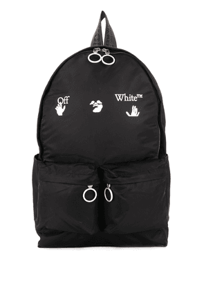 Off-White logo-embellished backpack - Black