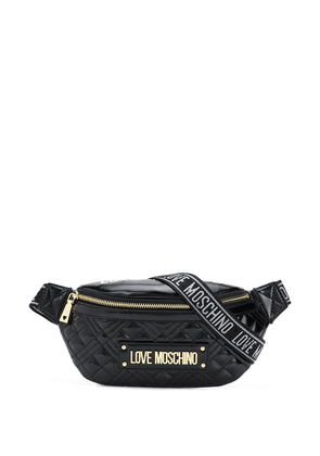 Love Moschino quilted belt bag - Black