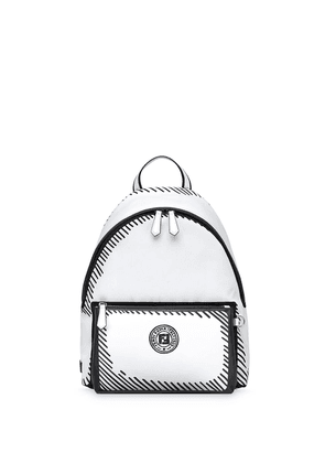 Fendi logo print backpack - White
