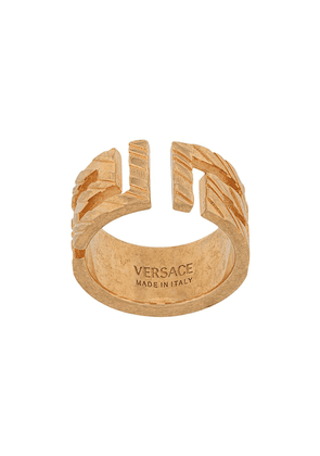 Versace Meander chunky ring - GOLD