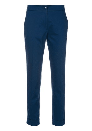 Etro cropped slim-fit trousers - Blue