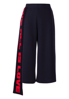 Stella McCartney cropped flared trousers - Blue