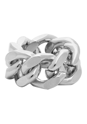 IN GOLD WE TRUST Silver Cuban Link Ring