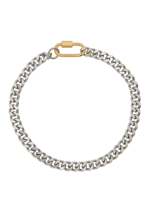IN GOLD WE TRUST Silver Cuban Link Necklace
