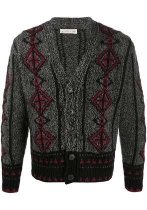 Etro embroidered knit cardigan - Grey
