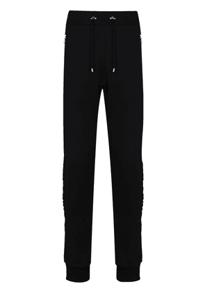 Balmain embossed logo track trousers - Black