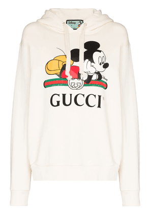 Gucci Mickey Mouse print hoodie - White