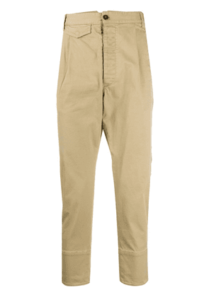 Dsquared2 pleated-front cropped trousers - NEUTRALS
