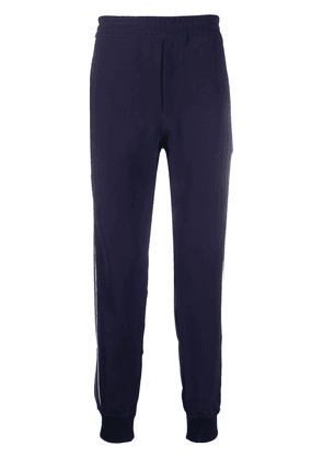 Alexander McQueen piped-trim detailed track pants - Blue