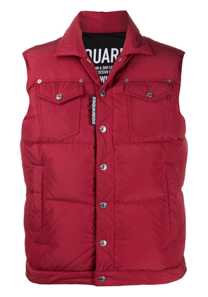 Dsquared2 logo patch padded gilet