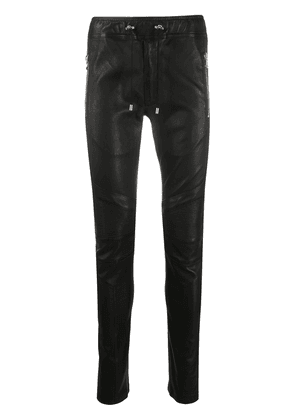 Balmain skinny leather trousers - Black