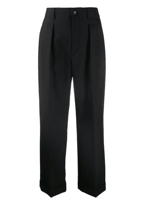 Saint Laurent cropped tailored trousers - Black