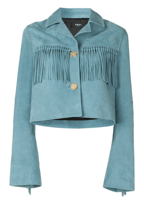 AMIRI fringe leather jacket - Blue