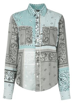 AMIRI whipstitch paisley shirt - Blue