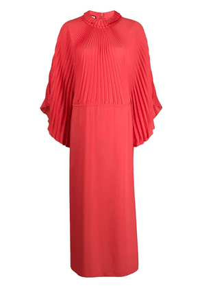 Gucci pleated long dress - Red